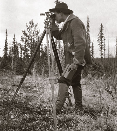 old school land surveying